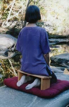 Самодельная скамейка для медитации